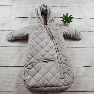 {Carters} Gray Quilted Zip Up Body Suit